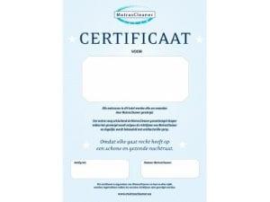 MatratCleaner certificaat