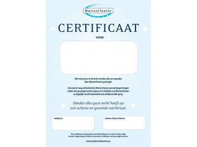Hotel certificaat