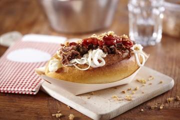 Nieuwste trend bij Plaza, broodje pulled beef!