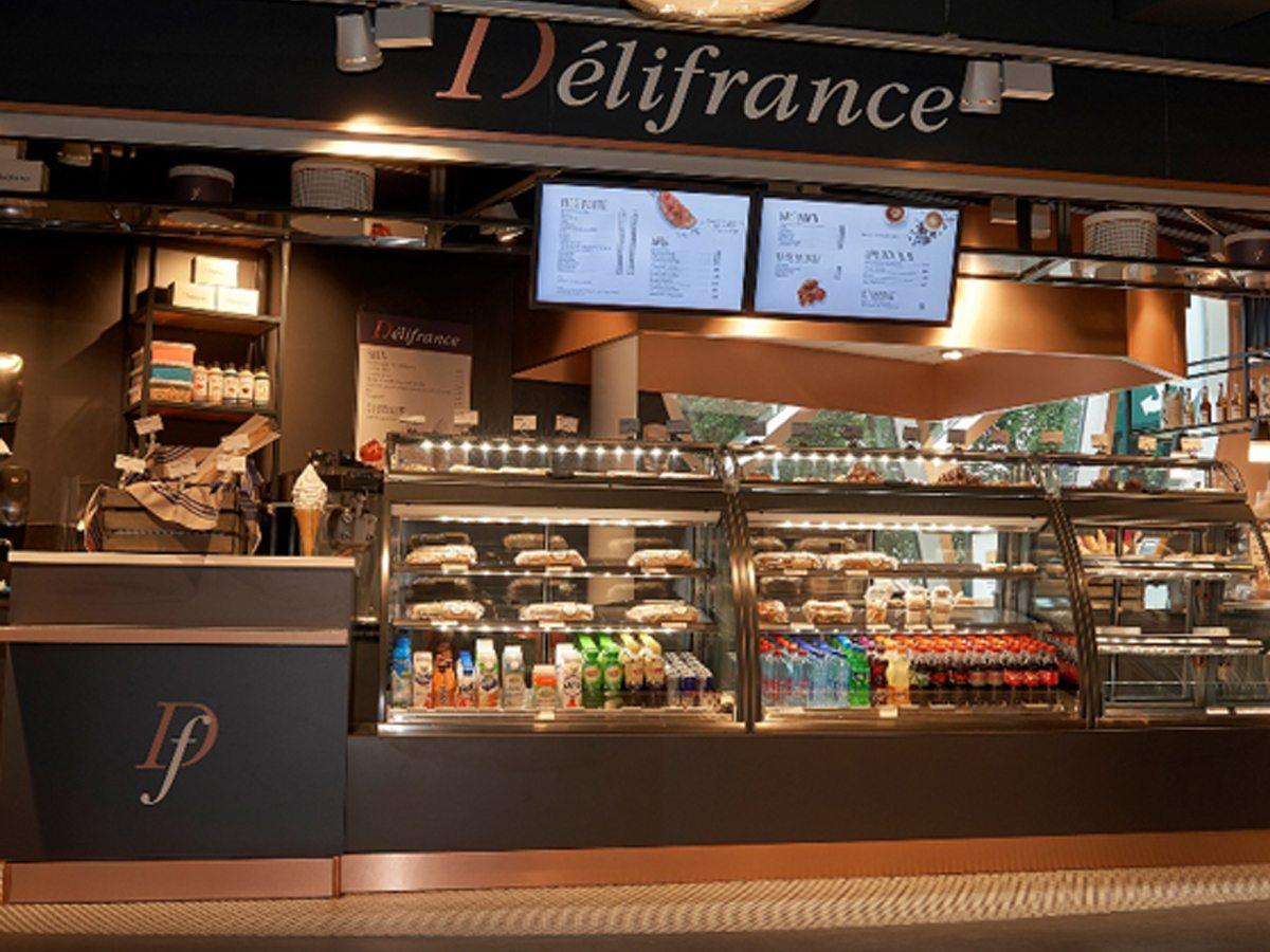 Gasten genieten al meer dan 30 jaar in een eigentijdse sfeer van Franse specialiteiten en lekkernijen bij Délifrance.