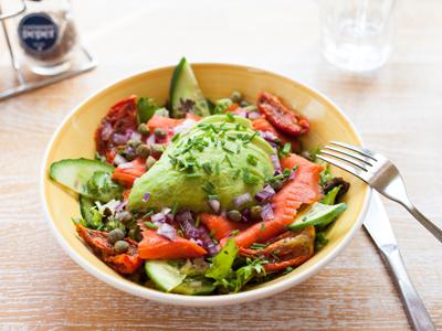 Salade wilde zalm