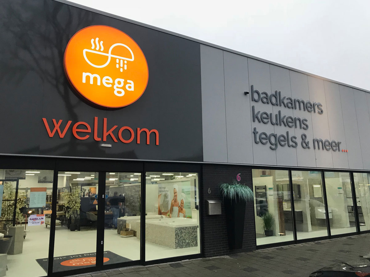Vestiging MEGA Tegels & Badkamers in Den Helder