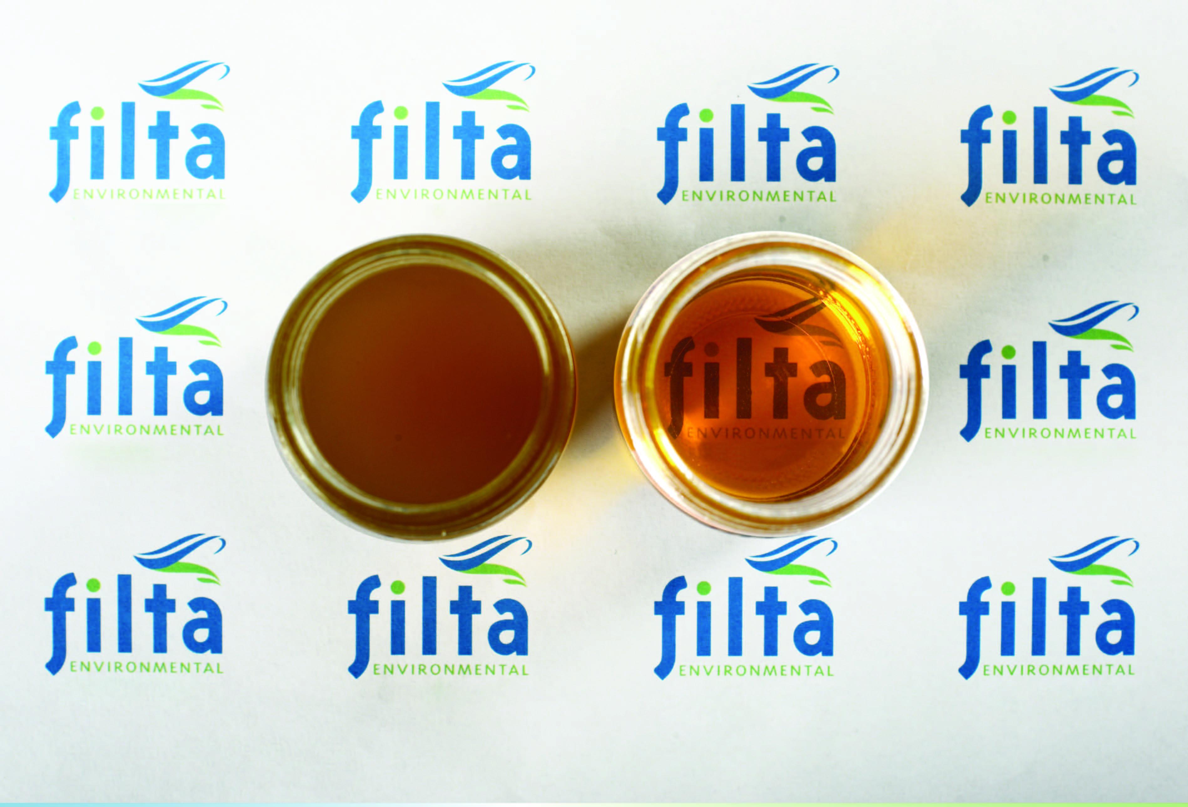 Voor en na microfiltratie